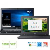 Kit: Notebook Acer A515-41G-1480 AMD A12 + Chromebook Acer N7 C731-C9DA Intel Celeron -