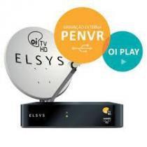 Kit Oi TV Livre Digital HD  Completo Para Instalação ( antena 75 cm ) - Elsys -