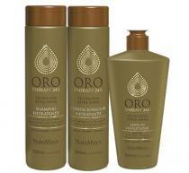 Kit Oro Therapy 24K NatuMaxx Shampoo, Condicionador e Leave-in 300ml - Natumaxx