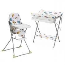 Kit Ovelhinha Galzerano com Cadeira de Alimentação e Banheira -