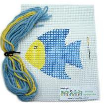 Kit p/ Aprender a Bordar - Peixe - Kits for Kids -