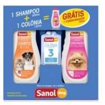 Kit Para Animais Shampoo/condicionador Ganhe 1 Colônia - Sanol -