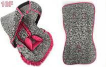 Kit para Bebe Conforto com Acolchoado e Capa de Carrinnho Zebra com Pink - Alan pierre baby