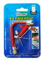 Kit Para Bomba De Inflar Bico Bola Boia 5 Peças Adaptador - Western