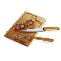 Kit para Churrasco em Bambu Inox Dallas 3 Peças v2 Welf - Welf