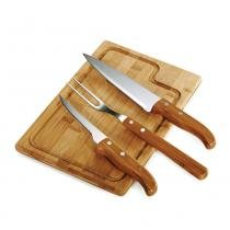 Kit para Churrasco em Bambu Inox Dallas 4 Peças v2 Welf - Welf