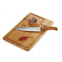Kit para Churrasco em Bambu Inox Texas 2 Peças Welf -
