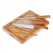 Kit para Churrasco em Bambu Paris 5 Peças Welf - Welf