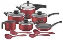 Kit para Cozinha Alumínio Antiaderente + Utensílios Nylon Tramontina 20598717 -