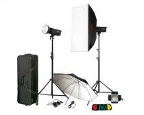Kit para Estúdio Fotográfico Godox com 2 Flashes de 800Ws -