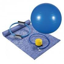 Kit para Pilates 4 Peças Azul 40100012 - Mor - Mor