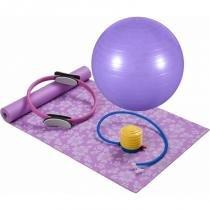 Kit para Pilates ou Yoga com 4 Peças Lilás MOR - MOR