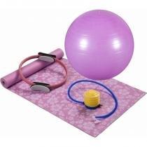 Kit para Pilates ou Yoga com 4 Peças Rosa MOR - MOR