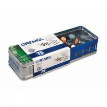 Kit Para Retifica c/ 75 Acessórios + Caixa Metálica - DREMEL - Dremel