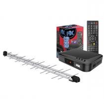 Kit para TV Digital Conversor Digital ChipSCE + Antena Log Pro HD 1000 - Xdgtl