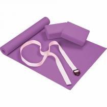 Kit para Yoga com 4 Peças Roxo Mor - Mor