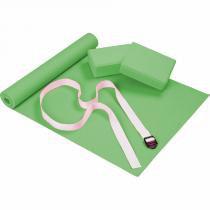 Kit para Yoga com 4 Peças Verde Mor -