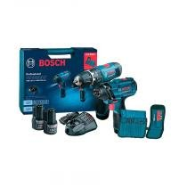 Kit parafusadeira a bateria GDR120-2 Li e furadeira de impacto GSB1200-2 Li azul Bosch -