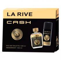 KIT PERFUME LA RIVE CASH MAN EDT 75 ML + DESOD 150 ML Familia Olfativa 1 Million by Paco Rabanne - Importado