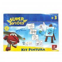 Kit Pintura Super Aviões - Brincadeira de Criança - Brincadeira de crianca
