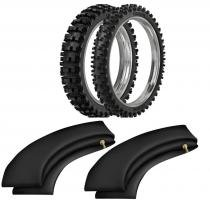 Kit pneu moto cross 120/80-19 + 90/90-21 sr39 rinaldi -