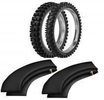 Kit pneu moto cross 120/80-19 + 90/90-21 sr39 rinaldi - Rinaldi