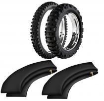 Kit pneu moto cross trilha 140/80-18 + 90/90-21 he42 rinaldi - Rinaldi