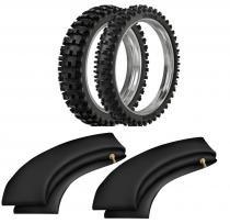 Kit pneu moto cross trilha 70/100-10 + 60/100-12 rmx35 extreme rinaldi + camaras - Rinaldi