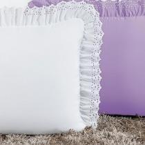 Kit Porta Travesseiro Padrão Anabelle 02 Peças - Branco - Sulamita enxovais