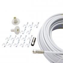 Kit Prático Parabólica Banda C - Cabletech - Cabletech