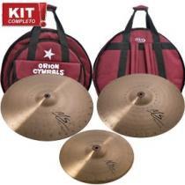 Kit pratos bateria ms70 set 14+16+20 com bag mainstream - Orion