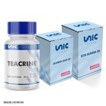 Kit Pré Treino Com Beta Alinina + Arginina AAKG + Teacrine - Unicpharma