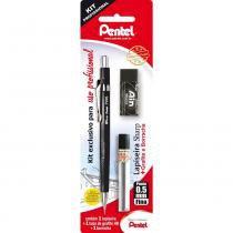 Kit Profissional Pentel SM/P205-AMBP  Lapiseira0,5mm+Grafite+Borracha -