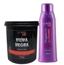 Kit Progress no Chuveiro 500ml e Máscara Viúva Negra 240g La Bella Liss -