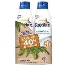 Kit Protetor Solar Coppertone Toque Seco FPS 50 177ml 2 Unidades - COPPERTONE