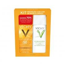 Kit Protetor Solar Facial Vichy Capitail Soleil Toque Seco FPS50 50g - VICHY