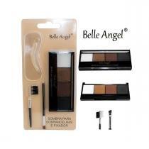 Kit Quarteto Para Sobrancelha + aplicador + 5 moldes - Belle Angel -