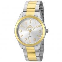 Kit Relógio Allora Feminino AL2035FKM/K5K dourado/prata -