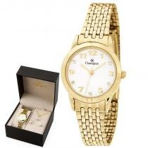 Kit Relógio Champion Feminino Ch24866w -