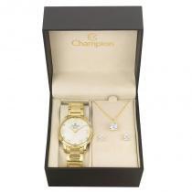 Kit Relógio Champion Feminino Elegance - CN26028W - Magnum