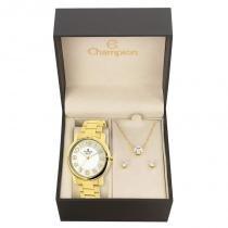 Kit Relógio Champion Feminino Elegance - CN26457W - Magnum