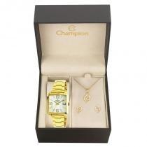 Kit Relógio Champion Feminino Elegance - CN26895W - Magnum