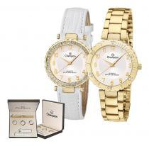 34a7f647af0 Kit Relógio Champion Troca Pulseira Feminino CN28759H -