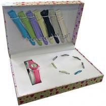kit Relógio com 8 Pulseiras MODEL 7 - Shiny Toys