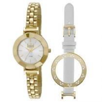 Kit Relógio Dumont Vip 2 Pulseiras Feminino -