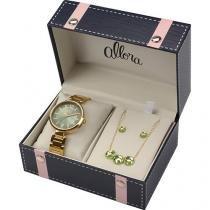 Kit Relógio Feminino Allora Analógico Fashion AL2035EYM/4A -