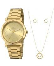 Kit Relógio Feminino Allora Analógico Fashion Al2035fay/k4x -