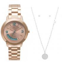 980f2ea7716 Kit Relógio Feminino Allora Serena AL2315AJ K4T - Rosê -