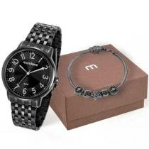 Kit Relógio Mondaine Feminino Preto 53673lpmvpe1k8 -