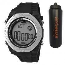 Kit Relógio Mormaii Masculino Nautique MO3374C/8P + Squeeze Automático 1lt - Rythmoon